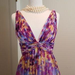 Maxi, polyester dress by Aidan Mattox, size 6